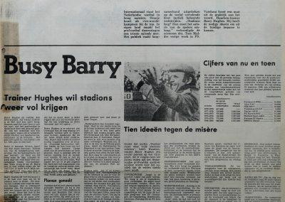 Barry Hughes over misère profvoetbal, 30 september 1978