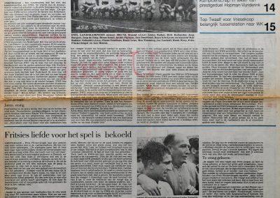 DWS, de landskampioen van 1964; 2 februari 1985