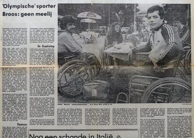 Fred Broos, 21 juni 1980
