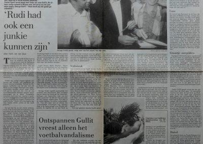 George en Ruud Gullit, 4 juni 1988