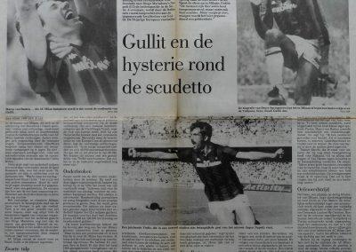 Hollanders bij AC Milan, 7 april 1988