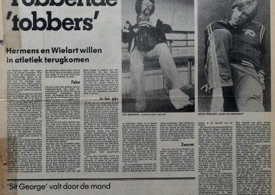 Jos Hermens en Ruud Wielart, 16 december 1978