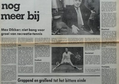 Max Dikker, 31 maart 1979